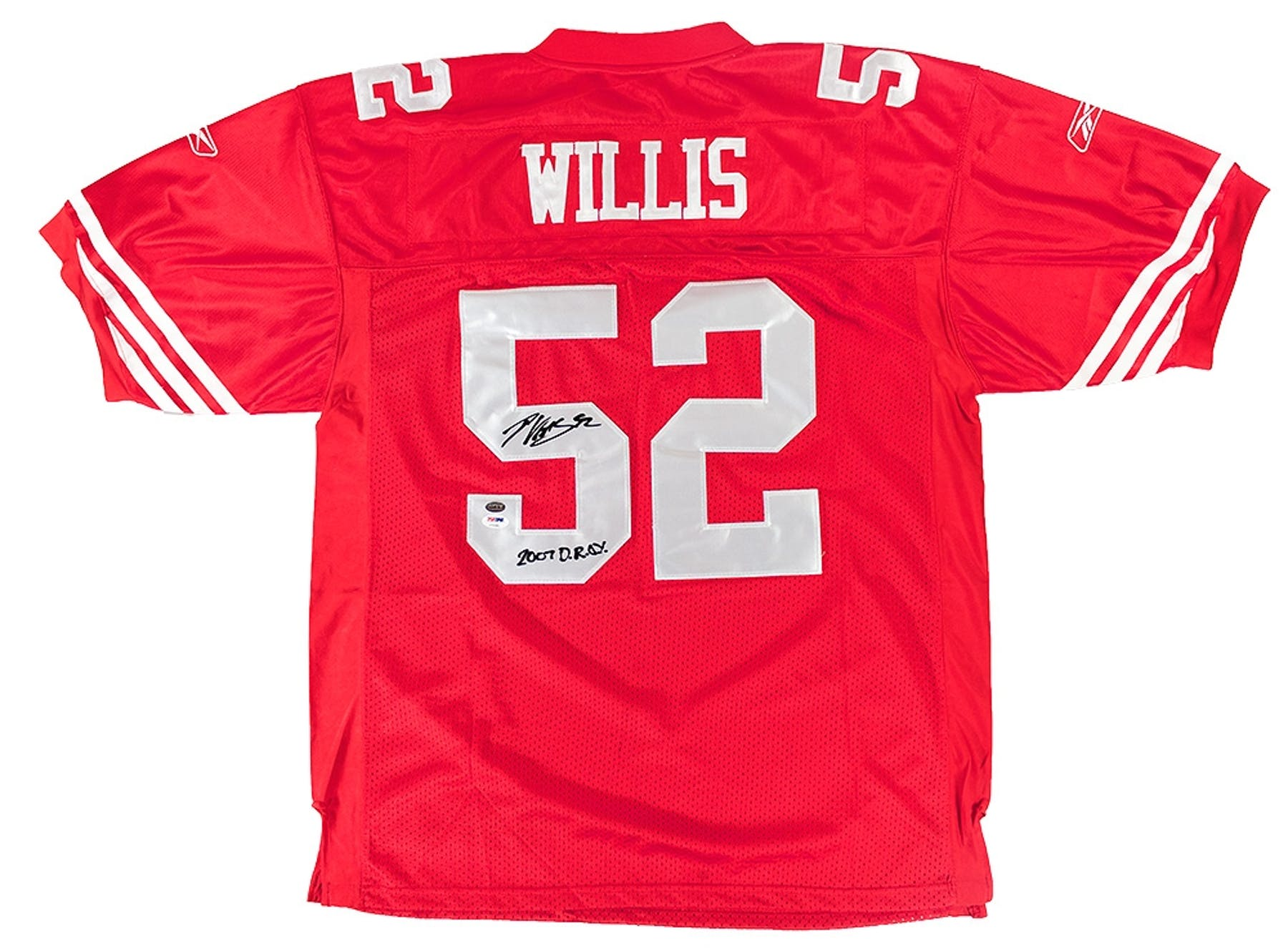 a042d3ace Patrick Willis Autographed San Francisco 49ers Reebok On Field Jersey