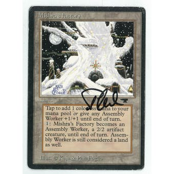 Magic the Gathering Antiquities Single Mishra's Factory (winter) - MODERATE PLAY (MP) Artist Signed