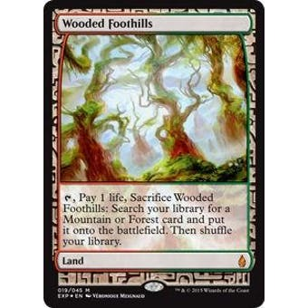 Magic the Gathering Zendikar Expedition Single Wooded Foothills FOIL - NEAR MINT (NM)