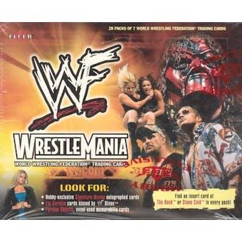 2001 Fleer WWF WWE Wrestlemania Wrestling Hobby Box