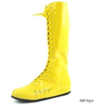 Hulk Hogan Autographed Yellow Wrestling Boot WWE (DACW COA)