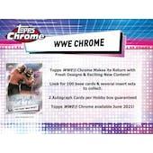 2021 Topps WWE Chrome Wrestling Hobby 8-Box Case (Presell)