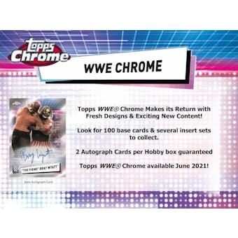 2021 Topps WWE Chrome Wrestling Hobby Box (Presell)