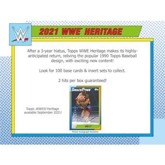 2021 Topps WWE Heritage Wrestling Hobby 8-Box Case (Presell)