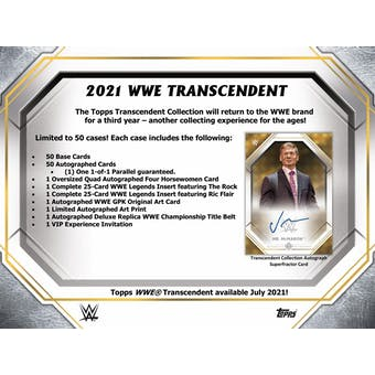 2021 Topps WWE Transcendent Collection Wrestling Hobby Case (Presell)