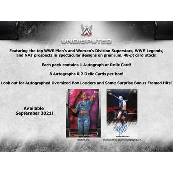 2021 Topps WWE Undisputed Wrestling Hobby Box (Presell)