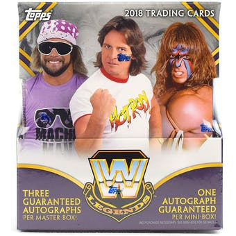 2018 Topps WWE Legends Wrestling Hobby 8-Box Case- DACW Live 16 Spot Random Mini Box Break #3