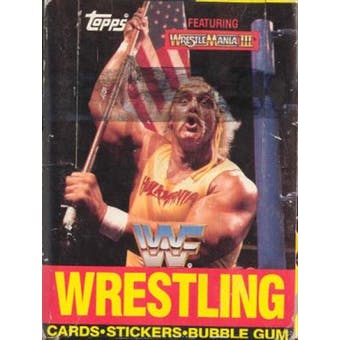 1987 Topps WWF Wrestling Wax Box (Featuring Wrestle Mania III)
