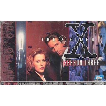 X-Files Season 3 Hobby Box (1996 Topps) (Reed Buy)