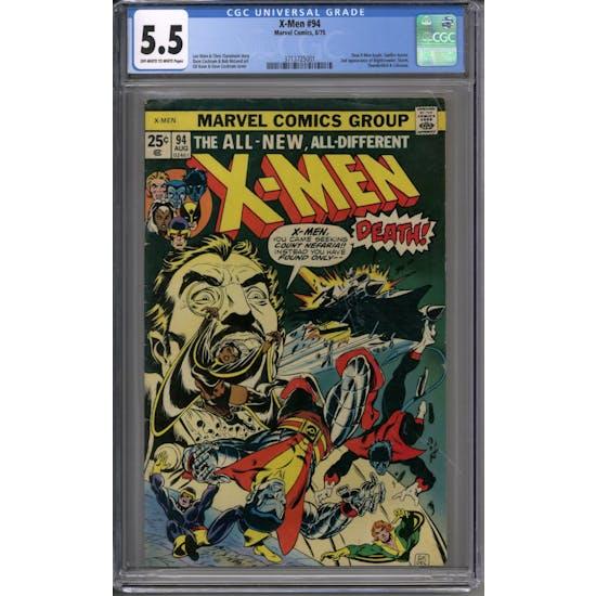 X-Men #94 CGC 5.5 (OW-W) *3713725001*