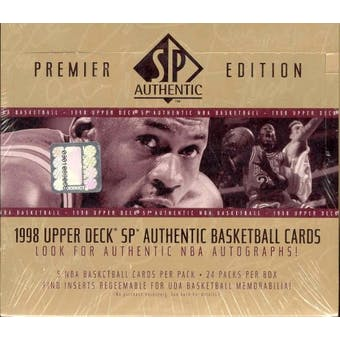 1997/98 Upper Deck SP Authentic Basketball Hobby Box