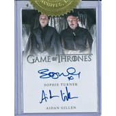 Game Of Thrones Season Five 6 Case Incentive Dual Autograph Card Turner/Gillen