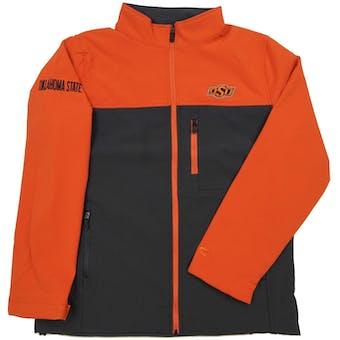 Oklahoma State Cowboys Genuine Stuff Grey & Black Full Zip Fleece Jacket (Adult M)