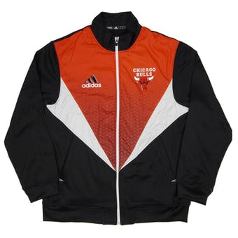 Chicago Bulls Adidas Black & Red Resonate Kinetic Performance Jacket (Adult L)