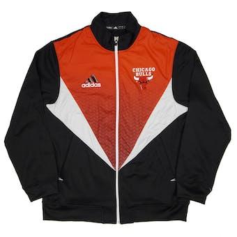 Chicago Bulls Adidas Black & Red Resonate Kinetic Performance Jacket (Adult L)