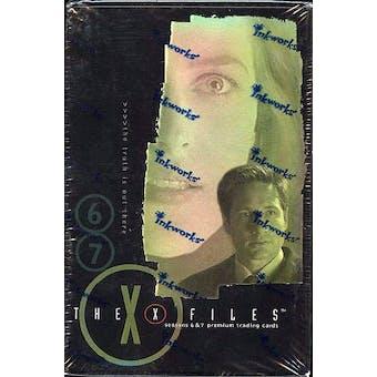 X-Files Seasons 6 & 7 Hobby Box (2001 Inkworks)
