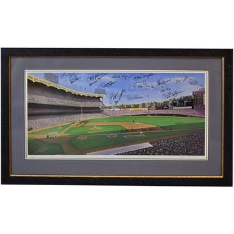 New York Yankees Greats Multisigned Lithograph Guidry-Skowron-Larsen-Chambliss-Pepitone PSA