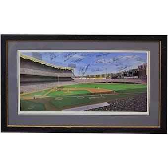 New York Yankees Greats Multisigned Lithograph Guidry-Skowron-Larsen-Chambliss-Pepitone PSA