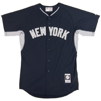 New York Yankees Majestic Navy BP Cool Base Authentic Performance Jersey (Adult 48)