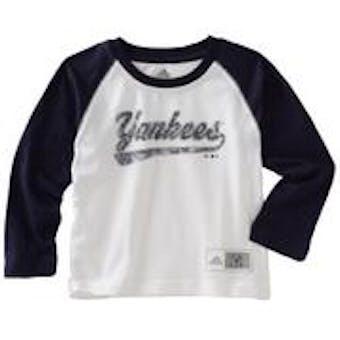 New York Yankees Adidas Long Sleeve Raglan Shirt (Toddler 2T)