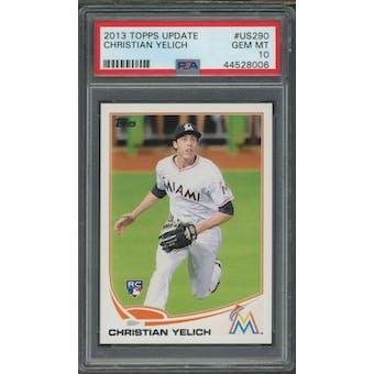 2013 Topps Christian Yelich PSA 10 card #US290 (Gem Mint)