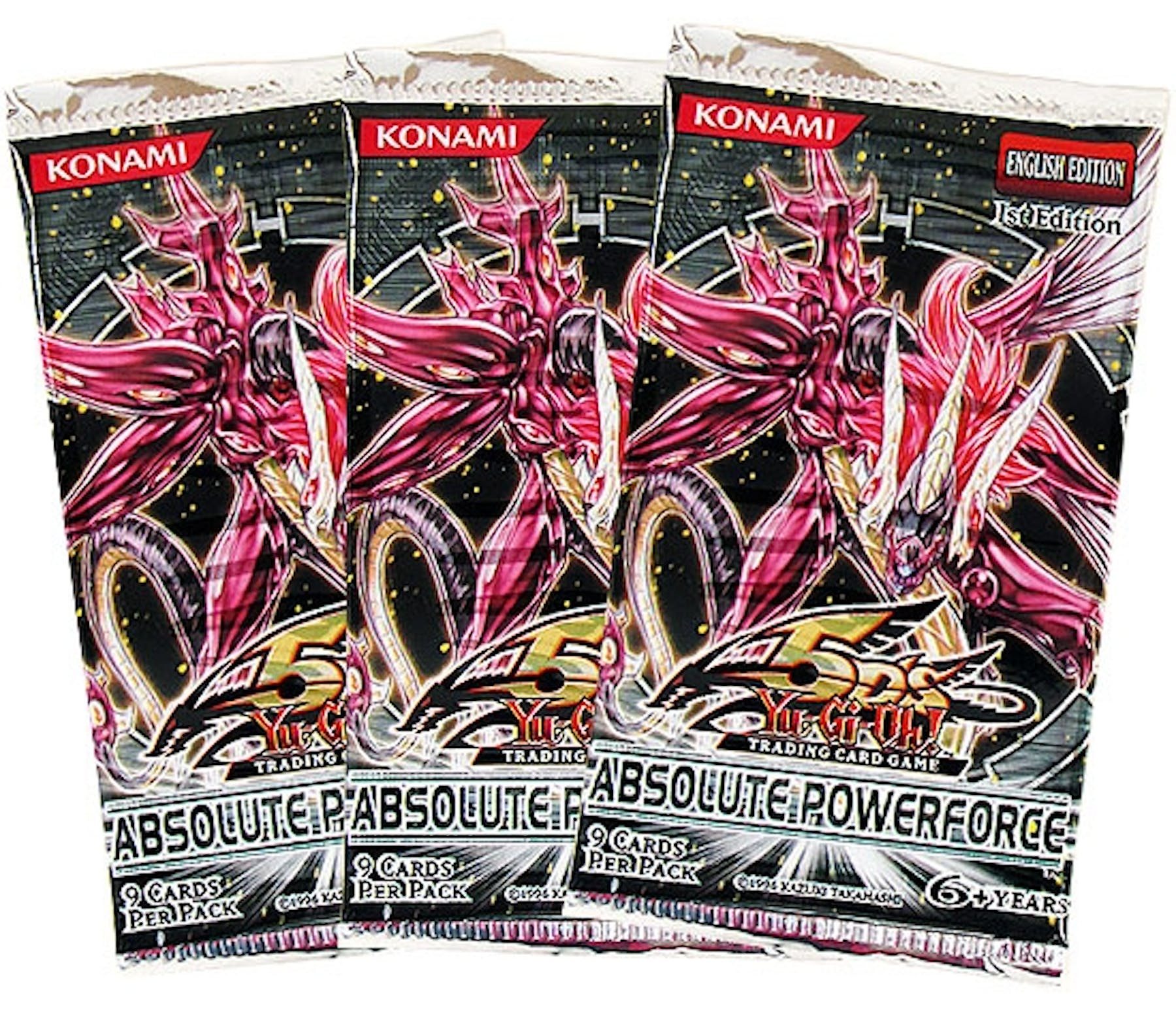 Yu-Gi-Oh Absolute Powerforce Booster Pack (Lot Of 3)