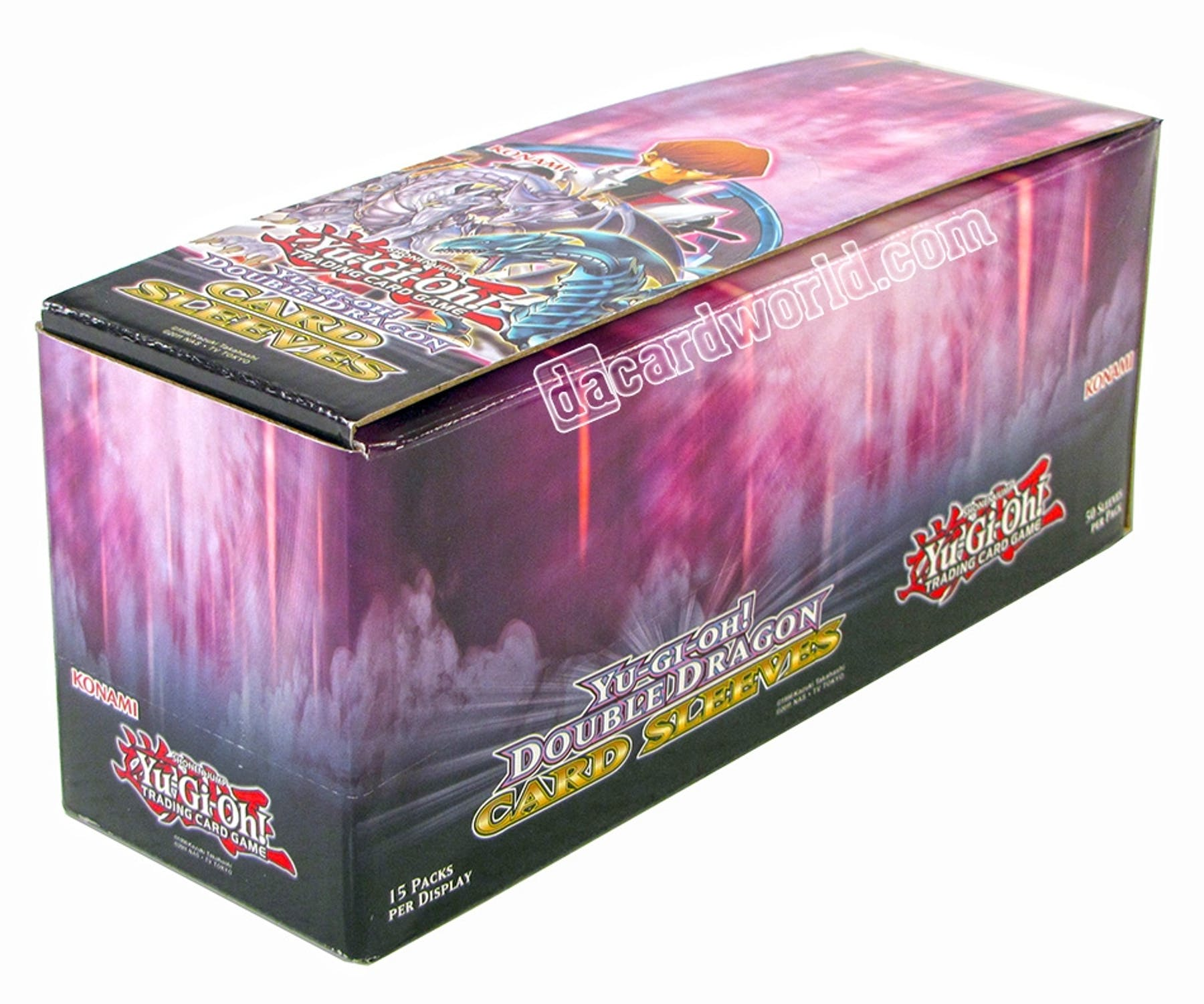 Konami Yu-Gi-Oh Double Dragon Card Sleeves Box Of 15 Packs