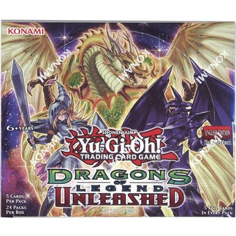 Yu-Gi-Oh Dragons of Legend: Unleashed 1st Edition Booster Box