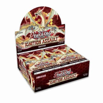 Yu-Gi-Oh Ignition Assault Booster 12-Box Case - Full Funds Up Front Save $10 (Presell)