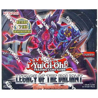 Yu-Gi-Oh Legacy of the Valiant 1st Edition Booster Box
