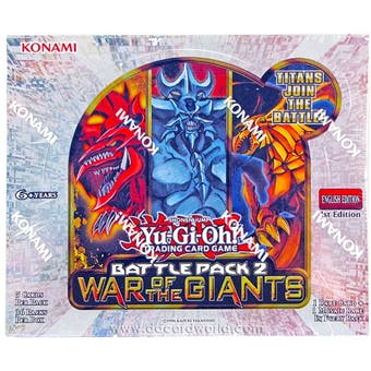 Konami Yu-Gi-Oh Battle Pack 2: War of the Giants Booster Box 1st Edition