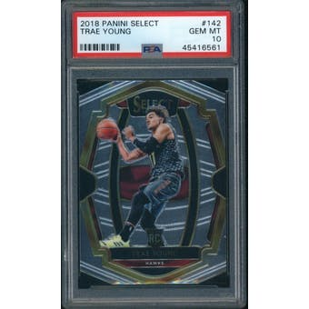 2018/19 Panini Select Trae Young Premier Level PSA 10 card #142
