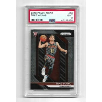 2018/19 Panini Prizm Trae Young PSA 9 Card #78 (Mint)
