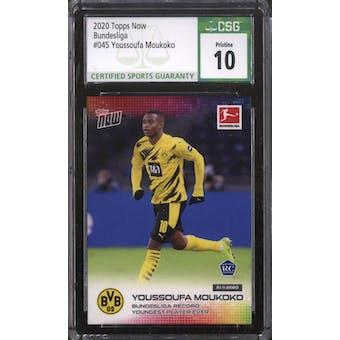 2020 Topps Now Bundesliga Youssoufa Moukoko #45 CSG 10 (Pristine)