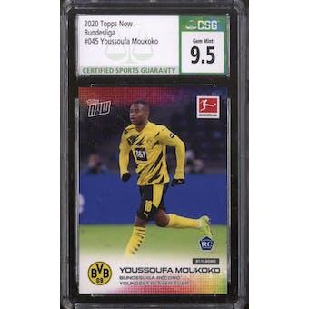 2020 Topps Now Bundesliga Youssoufa Moukoko #45 CSG 9.5 (Gem Mint)