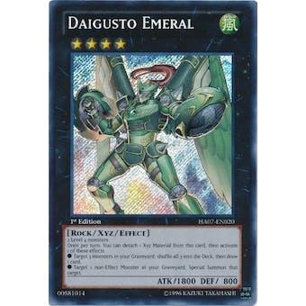 Yu-Gi-Oh Hidden Arsenal 7 Single Daigusto Emeral Secret Rare - SLIGHT PLAY (SP)