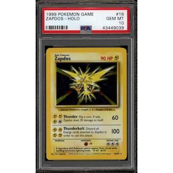 Pokemon Base Set Unlimited Zapdos 16/102 PSA 10 GEM MINT