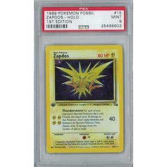 Pokemon Fossil 1st Edition Zapdos 15/62 PSA 9
